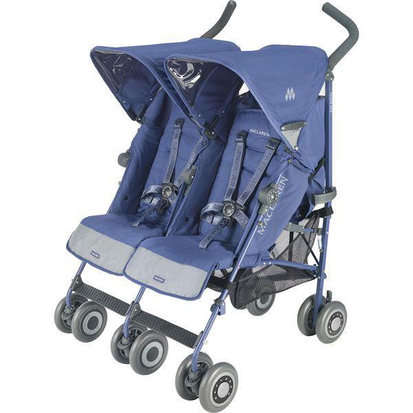poussette bebe double maclaren twin techno bleu bleu achat vente poussette 5010902183966. Black Bedroom Furniture Sets. Home Design Ideas