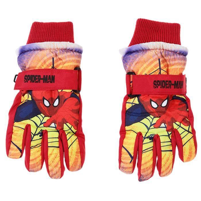 gants de ski enfant gar on spide rouge prix pas cher cdiscount. Black Bedroom Furniture Sets. Home Design Ideas