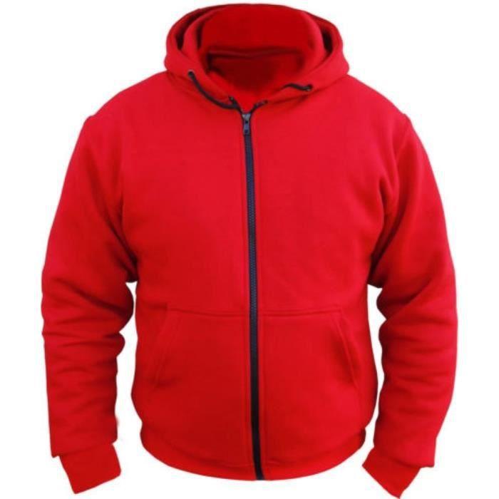 sweat shirt capuche polaire kevlar rouge achat vente blouson veste sweat shirt capuche. Black Bedroom Furniture Sets. Home Design Ideas