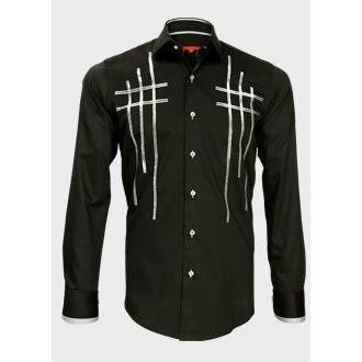 chemise de soiree cross noir noir achat vente chemise chemisette cdiscount. Black Bedroom Furniture Sets. Home Design Ideas