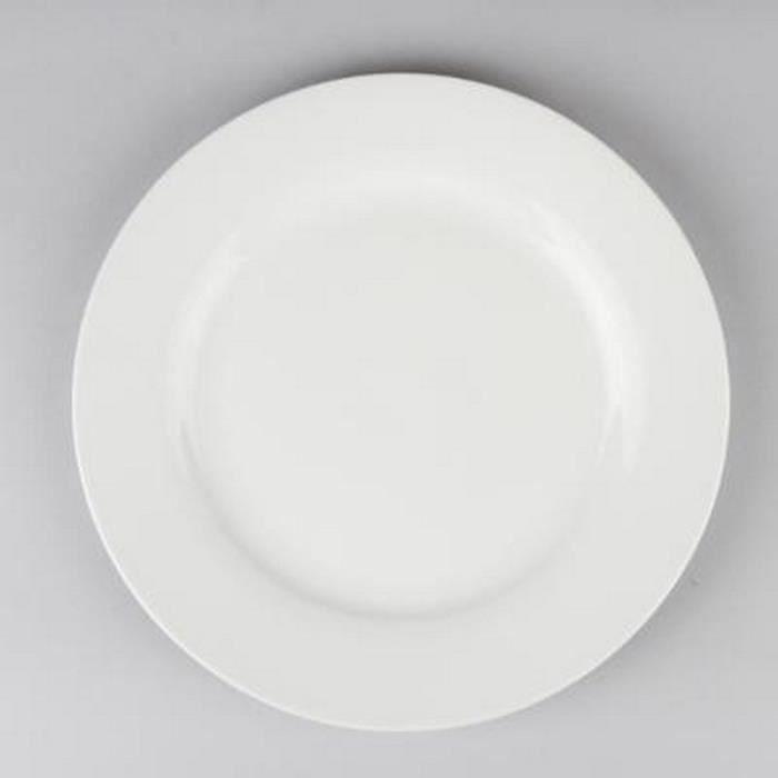paris prix lot de 6 assiettes plates ronde 24cm blanc achat vente service complet. Black Bedroom Furniture Sets. Home Design Ideas