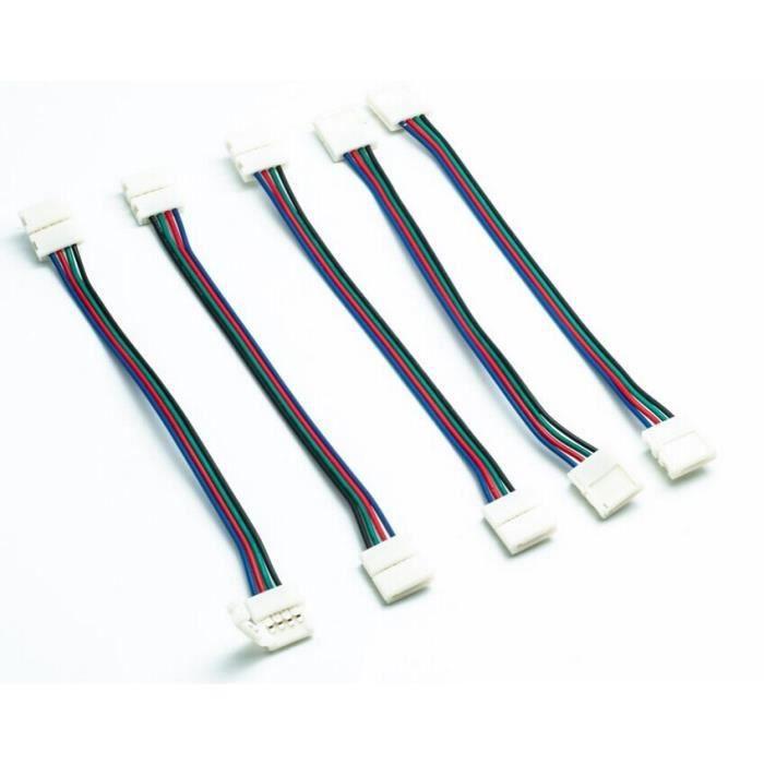 5x c ble connecteur pour 5050 bande ruban rgb led achat vente 5x c ble connecteur pour 50. Black Bedroom Furniture Sets. Home Design Ideas