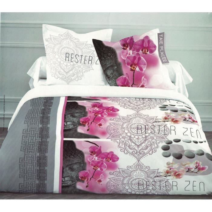 parure de couette 220x240 housse de couette 220x240 achat vente parure de couette cdiscount. Black Bedroom Furniture Sets. Home Design Ideas