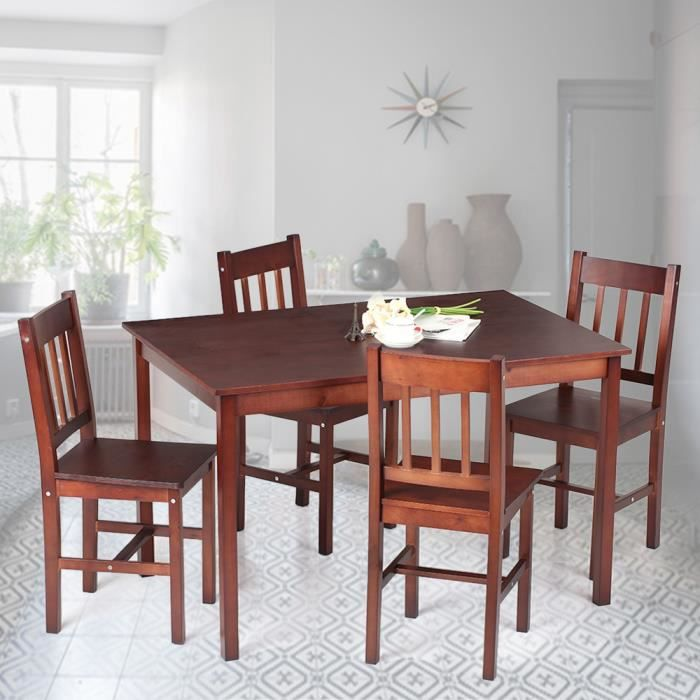 Chaise en bois pin de salle a manger achat vente chaise en bois pin de sa - Ensemble meuble salle a manger ...