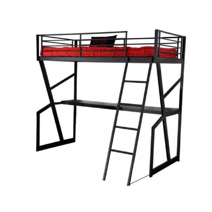 lit mezzanine teenager 90x190cm bureau int gr achat vente ensemble literie cdiscount. Black Bedroom Furniture Sets. Home Design Ideas
