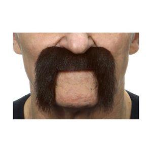MASQUE - DÉCOR VISAGE Moustache Motard - Brun -