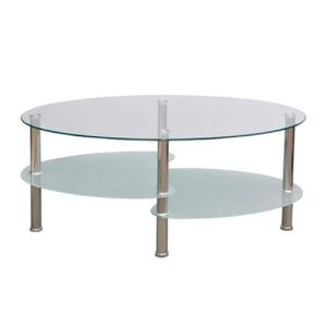 Table basse blanche ovale achat vente table basse - Table basse blanche ovale ...