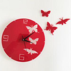 Horloge cuisine design achat vente horloge cuisine - Pendule murale papillon ...