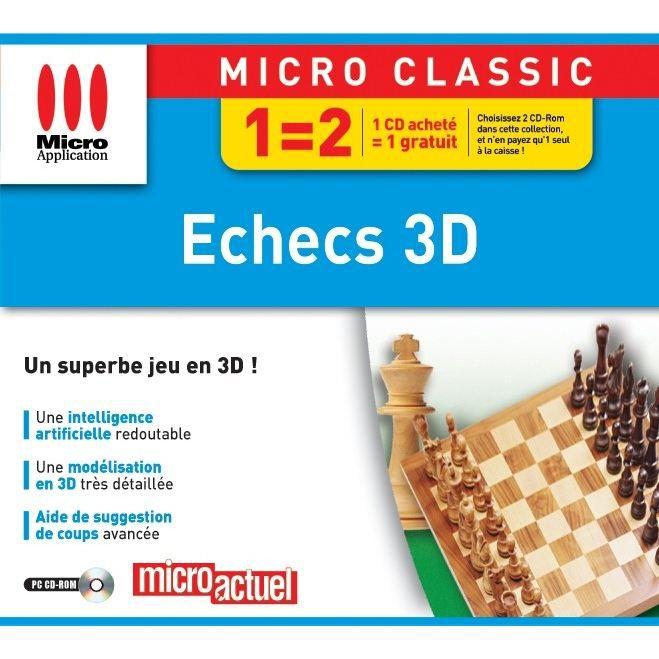 JEUX PC ECHECS 3D / JEU PC CD-ROM