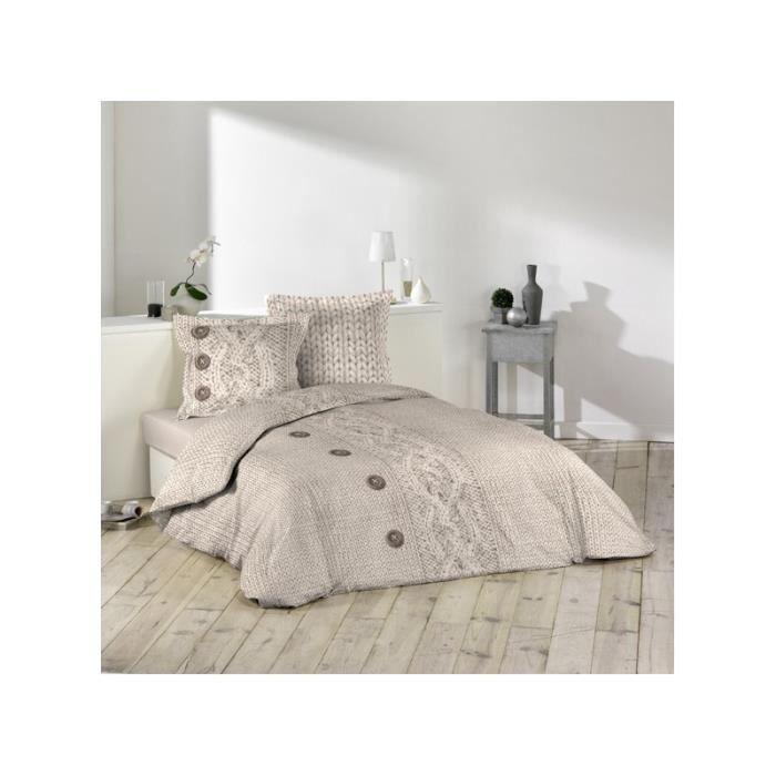 housse de couette en coton 240x220 cm laine achat. Black Bedroom Furniture Sets. Home Design Ideas