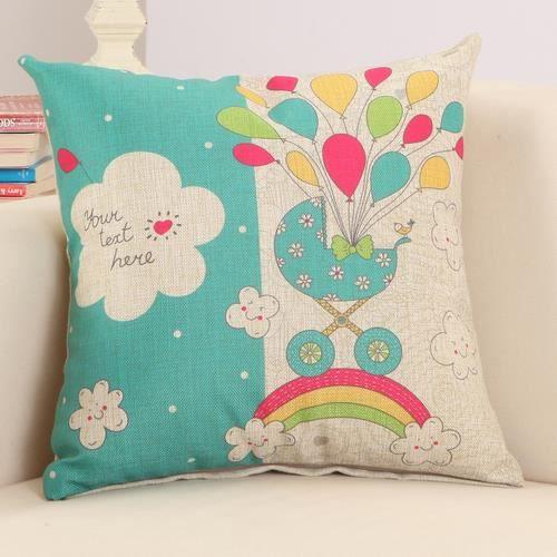 housses de coussin 45x45 cm motif de ballon achat vente housse de coussin cdiscount. Black Bedroom Furniture Sets. Home Design Ideas