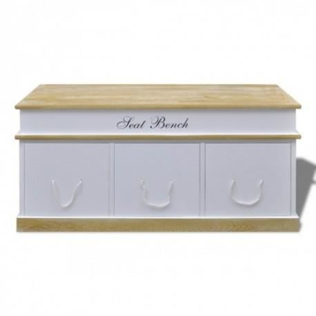 coffre rangement bois solide achat vente boite de rangement cdiscount. Black Bedroom Furniture Sets. Home Design Ideas