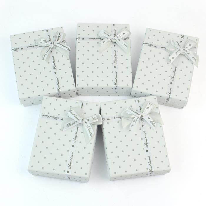5 x bo tes en carton de cadeau pour bijou bague anneau - Boite a bijoux boucle d oreille ...