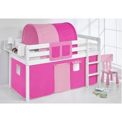 Lit enfant combin mezzanine complet sommier achat vente lit combin - Lit combine mezzanine ...