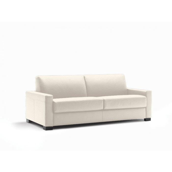 canap convertible lit milano cuir recycl ecru achat vente canap sofa divan cdiscount. Black Bedroom Furniture Sets. Home Design Ideas