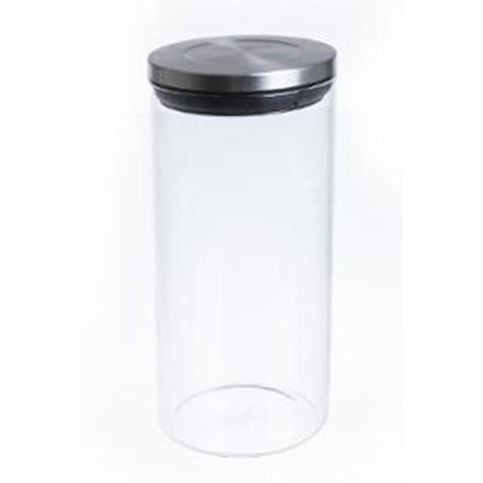 bocal de conservation en verre et inox achat vente bocaux bocal de conservation en ve. Black Bedroom Furniture Sets. Home Design Ideas
