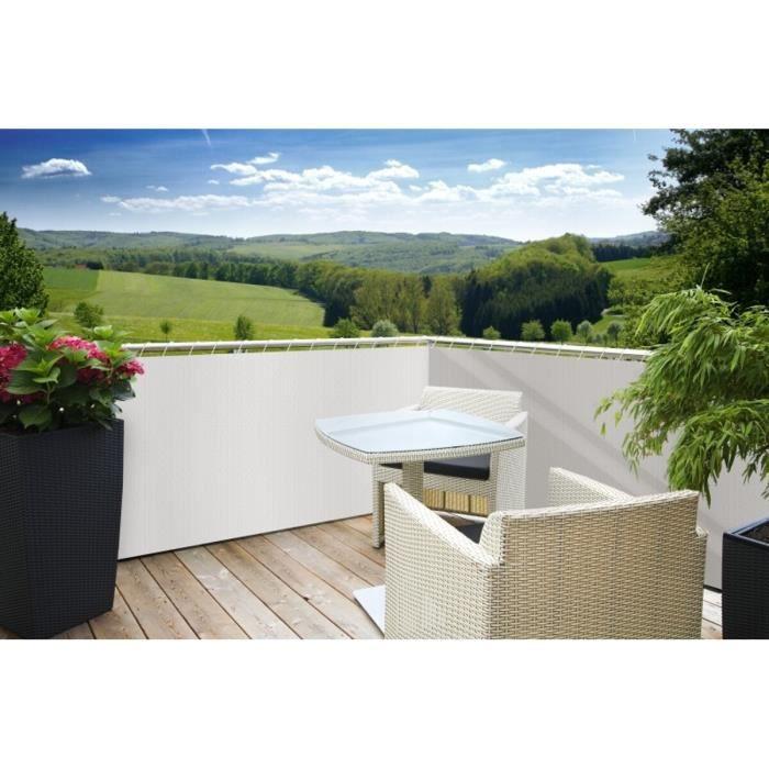 Brise vue pour balcon 85 occultant 5xh0 9m sylt blanc achat vente cl ture grillage - Soldes brise vue ...