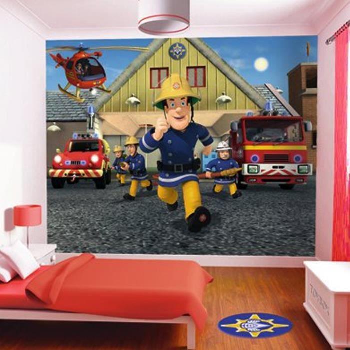D coration chambre sam le pompier - Chambre garcon pompier ...