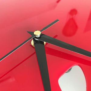 Pendule de cuisine rouge achat vente pendule de - Pendule murale papillon ...