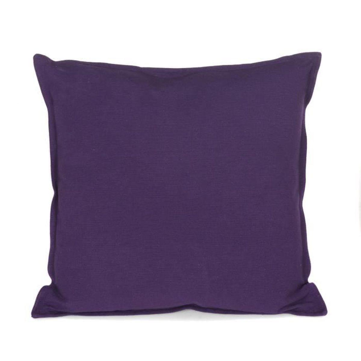coussin deco violet