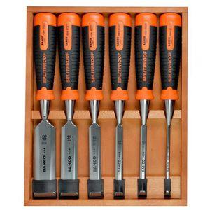 BAHCO Set de 6 ciseaux ? bois avec coffret en bois 424P-S6-EUR