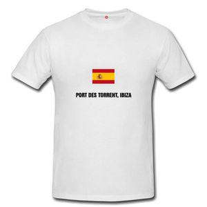 T-SHIRT T-shirt port des torrent, ibiza homme et femme uni