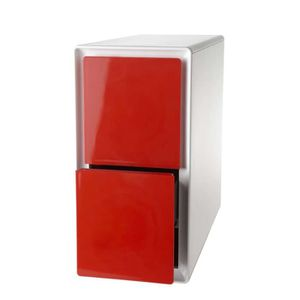 Cube de rangement easybox vertical 2 tiroirs design atylia couleur rouge ac - Cube rangement couleur ...
