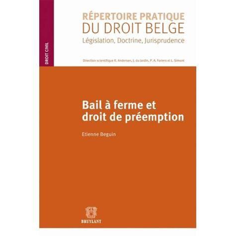 Bail ferme et droit de pr emption achat vente livre - Le droit de preemption ...