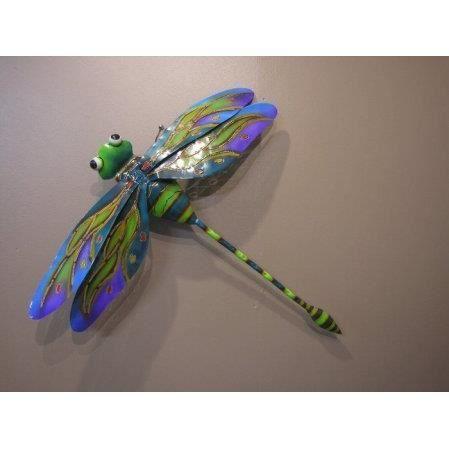 libellule acier color d coration murale 67cm achat. Black Bedroom Furniture Sets. Home Design Ideas