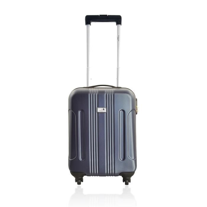 d voyage valise cabine abs speciale low cost navy achat vente valise bagage d voyage. Black Bedroom Furniture Sets. Home Design Ideas