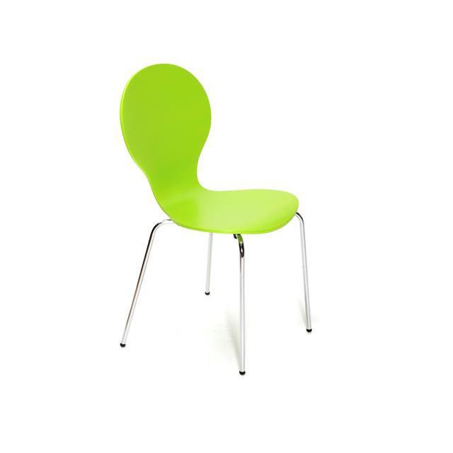 Jazz lot de 4 chaises de cuisine anis laqu achat for Liquidation chaises de cuisine