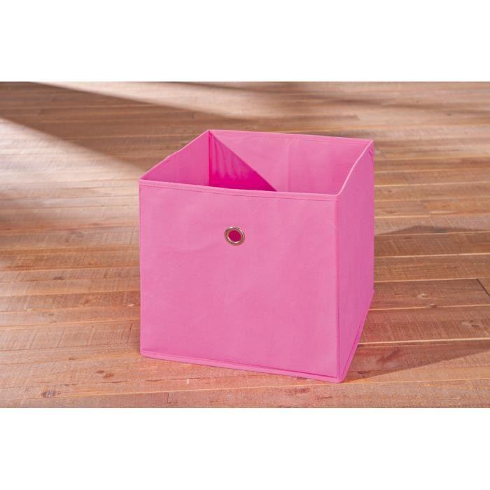 boite de rangement carr design coloris rose achat vente boite de rangement cdiscount