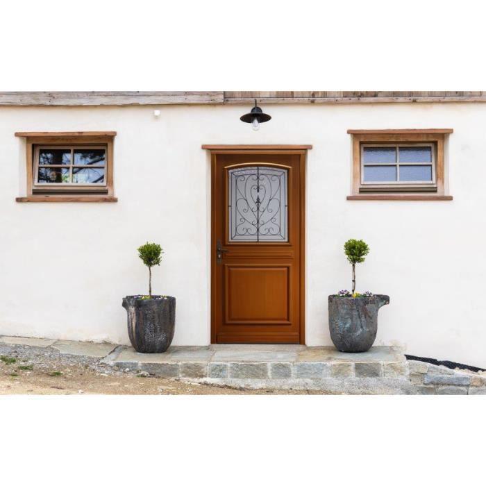 porte d 39 entree en bois 215 x 90 droite vitrage isolant 4 16 4 argon achat vente porte d. Black Bedroom Furniture Sets. Home Design Ideas