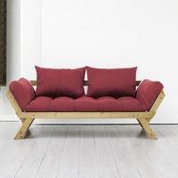 Canap futon et bois miel design bebop karup achat for Canape karup