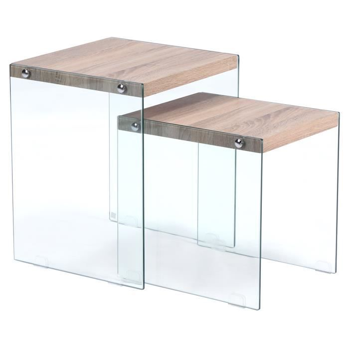 Table basse gigogne verso ch ne clair achat vente - Table basse gigogne but ...