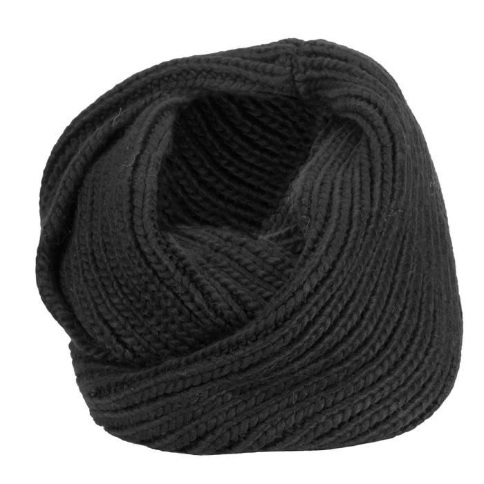 tour de cou homme noir noir achat vente echarpe. Black Bedroom Furniture Sets. Home Design Ideas