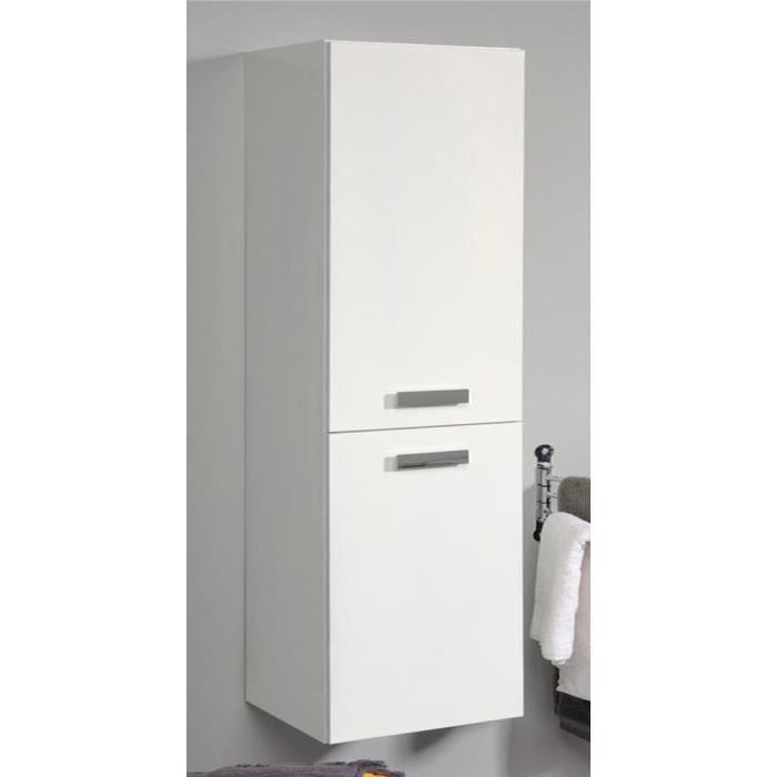 Colonne de salle de bain coloris blanc brillant h 144 x l for Colonne salle de bain largeur 30 cm