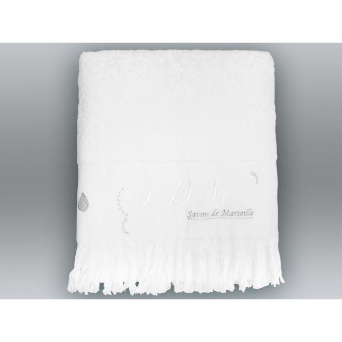 drap de bain romantique neige achat vente serviettes. Black Bedroom Furniture Sets. Home Design Ideas