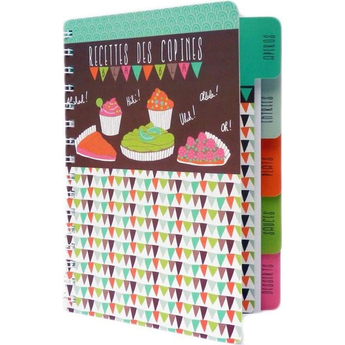 cahier vierge de cuisine recettes des copines carnet id e cadeau original humoristique pour. Black Bedroom Furniture Sets. Home Design Ideas