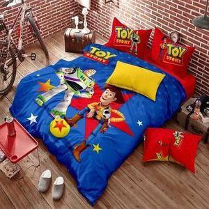 housse de couette toy story achat vente housse de couette toy story pas cher soldes d. Black Bedroom Furniture Sets. Home Design Ideas