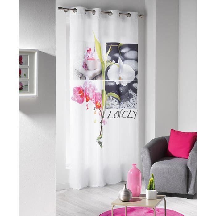 rideau japonais fly latest panneau japonais brod motifs. Black Bedroom Furniture Sets. Home Design Ideas