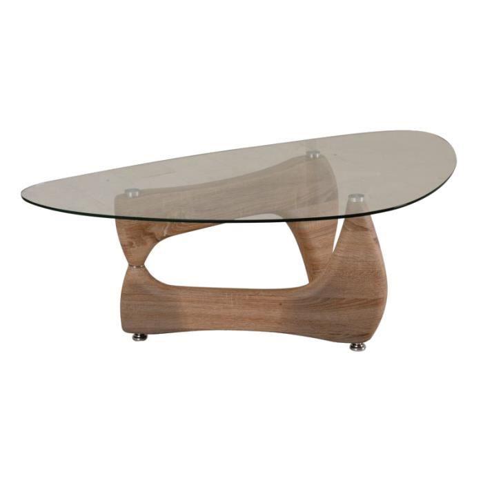 Justhome omega table de salon table basse sonoma ch ne for Table basse sonoma