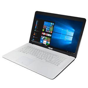 """ORDINATEUR PORTABLE ASUS PC Portable F751LAV-TY596T blanc 17.3"""" - 4Go"""