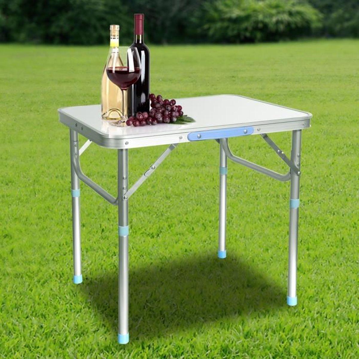 Table Pliable Portable Pratique En Aluminium Alliage