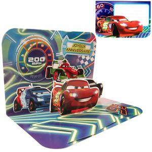 FAIRE-PART - INVITATION Carte Anniversaire 3D Disney - Cars