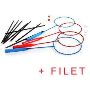 KIT BADMINTON set de 4 raquettes Badminton + Filet + 2 Volants j