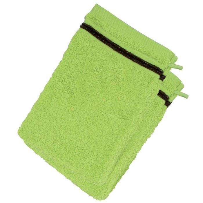 lot de 2 gants de toilette 550 gr anis chocolat achat vente gant de toilette cdiscount. Black Bedroom Furniture Sets. Home Design Ideas