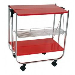 Table pliante roulettes rouge achat vente table d - Table pliante a roulettes ...