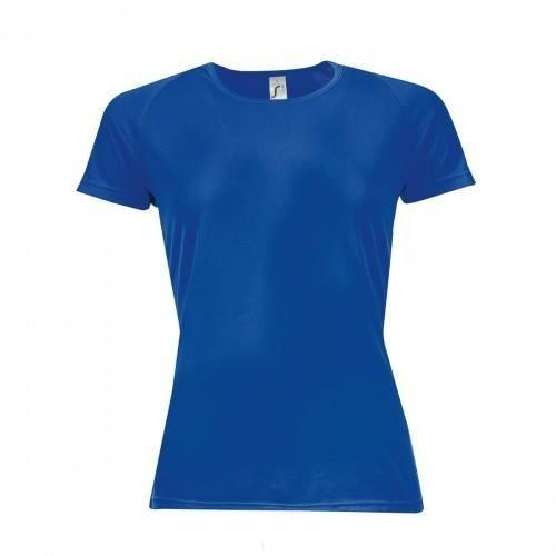 sols t shirt de sport femme bleu roi achat vente maillot polo de sport soldes. Black Bedroom Furniture Sets. Home Design Ideas