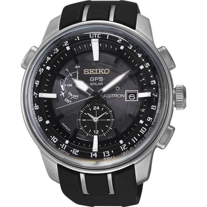 montre homme seiko astron gps solar sas031j1 bracelet m tal et silicone achat vente montre. Black Bedroom Furniture Sets. Home Design Ideas